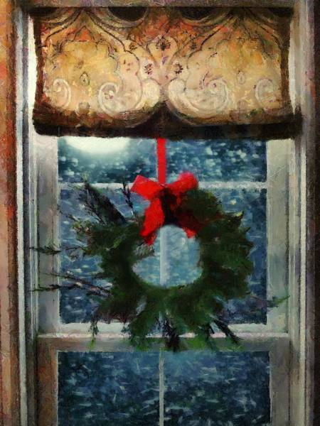 Painting - Christmas Eve Blizzard by RC DeWinter