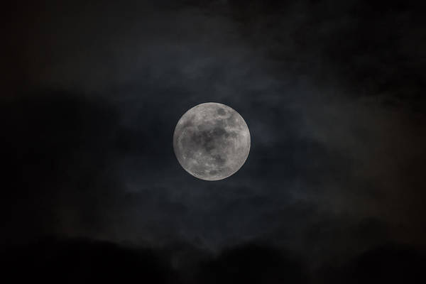 Photograph - Christmas Eve Full Moon 2015 by Terry DeLuco