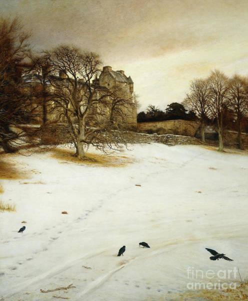 Millais Painting - Christmas Eve by John Everett Millais
