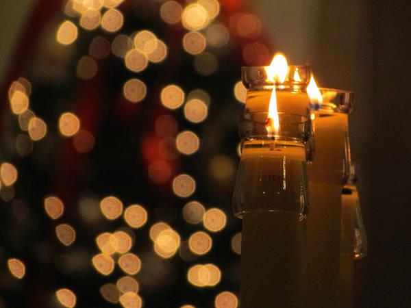 Carol Singing Photograph - Christmas Eve Lights by David T Wilkinson