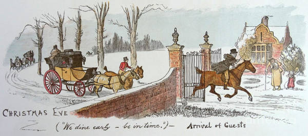 Wall Art - Drawing - Christmas Eve by Randolph Caldecott