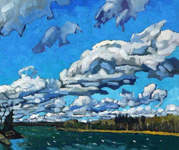 Stratocumulus Painting - Christmas Eve Wind by Phil Chadwick