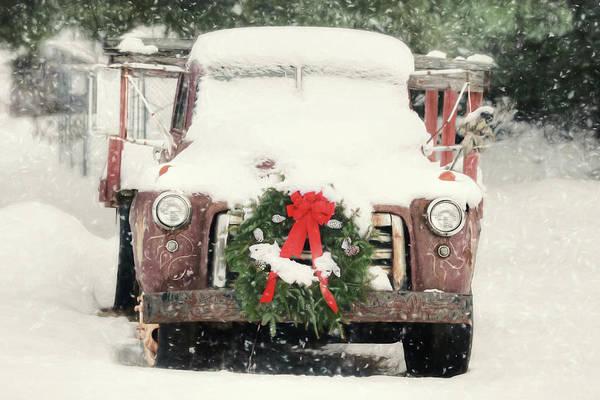 Wall Art - Photograph - Christmas Farm Truck by Lori Deiter