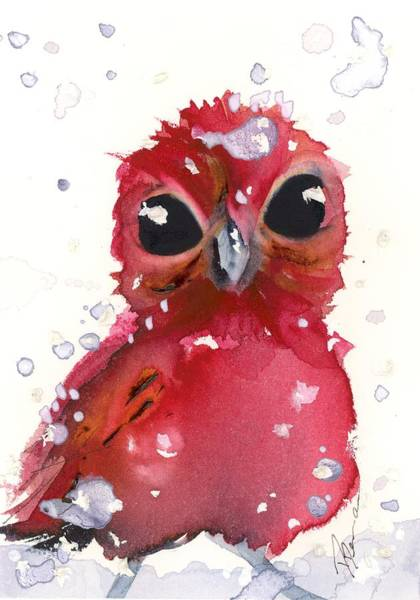 Painting - Christmas Finch by Dawn Derman