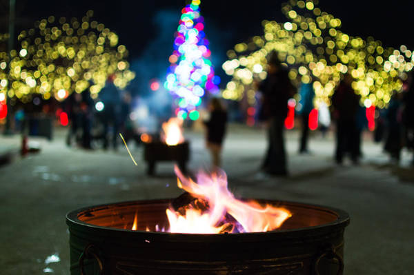 Photograph - Christmas Fire Pit by Stephen Holst