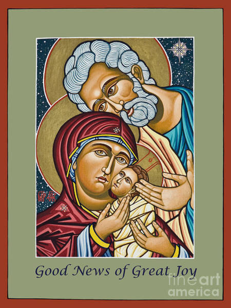 Painting - Christmas Holy Family - Lwchf by Lewis Williams OFS