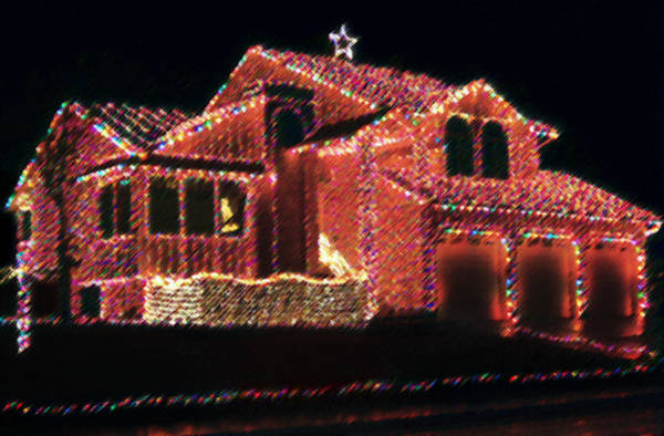 Christmas Season Wall Art - Photograph - Christmas House Of Lights by Steve Ohlsen
