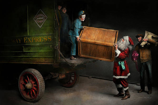 Photograph - Christmas - How Santa Ruined Christmas 1924 by Mike Savad