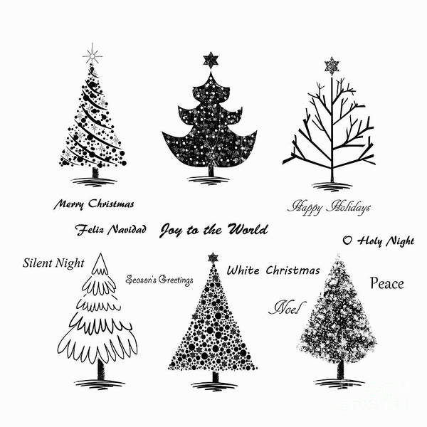 Sketch Holiday Photograph - Christmas Illustration by Stephanie Frey