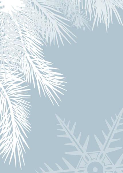 Xmas Digital Art - Christmas In Baby Blue - No Text  by Maggie Terlecki