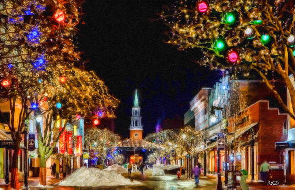 Painting - Christmas In Burlington - Cty648430 by Dean Wittle