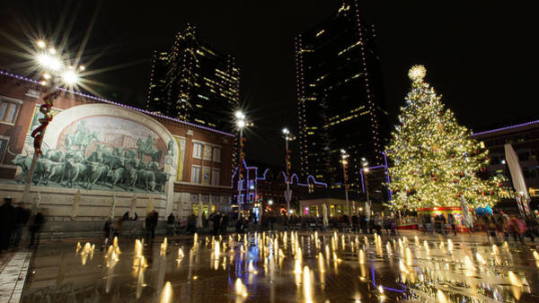 Ft Worth Wall Art - Photograph - Christmas In Cowtown by Stephen Stookey