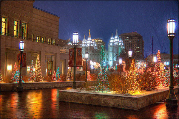 Wall Art - Photograph - Christmas In Downtown Slc by Douglas Pulsipher