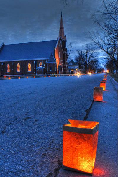 Luminaries Photograph - Christmas In Horton Kansas by Don Wolf