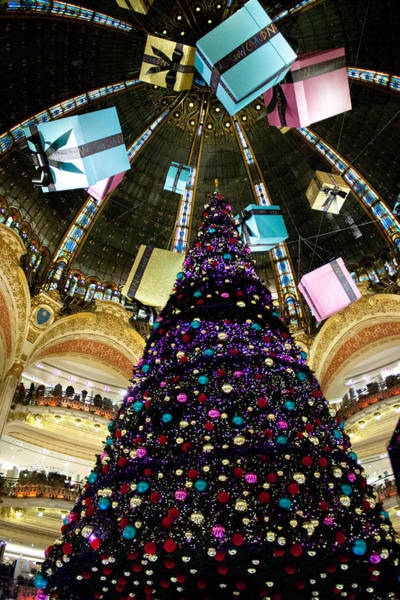 Galeries Lafayette Photograph - Christmas In Paris 2010 - #1 by Sophia Pagan