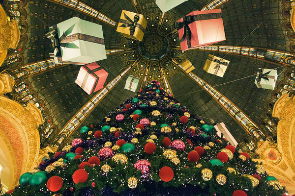 Galeries Lafayette Photograph - Christmas In Paris 2010 - #2 by Sophia Pagan