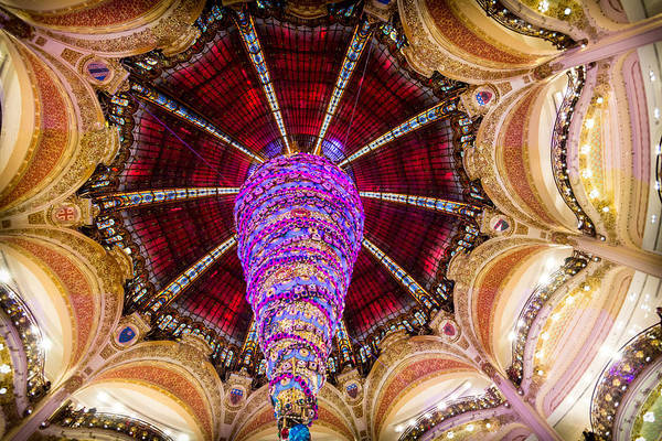 Galeries Lafayette Photograph - Christmas In Paris 2014 - #1 by Sophia Pagan