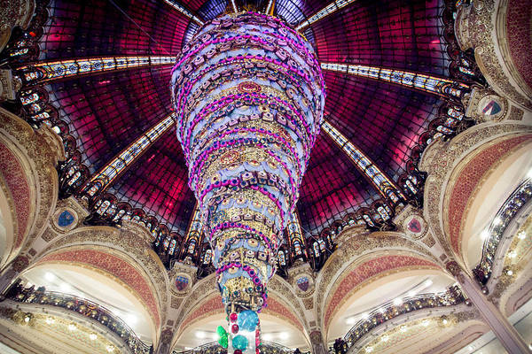 Galeries Lafayette Photograph - Christmas In Paris 2014 - #2 by Sophia Pagan