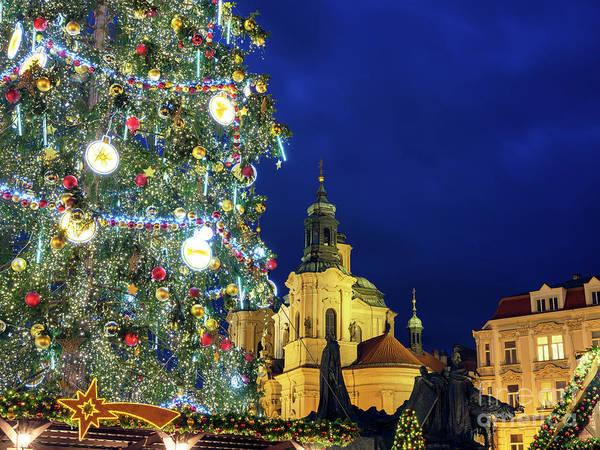 Photograph - Christmas In Prague by John Rizzuto
