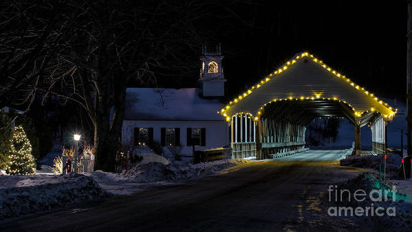 Photograph - Christmas In Stark New Hampshire by New England Photography