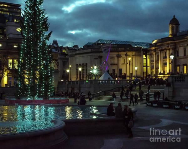 Christmas In Trafalgar Square, London 2 Art Print