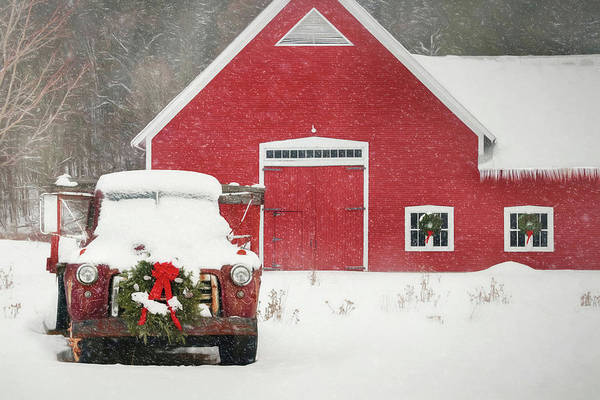 Wall Art - Photograph - Christmas In Vermont by Lori Deiter