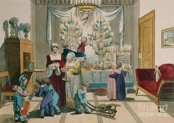 Wall Art - Painting - Christmas by Johann Michael Voltz