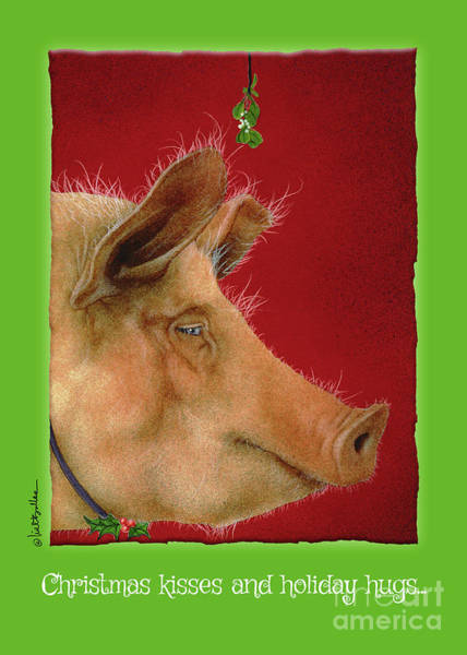 Painting - Christmas Kisses And Holiday Hugs... by Will Bullas