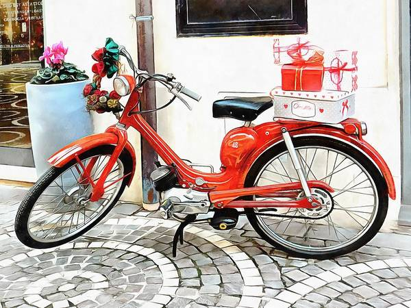 Photograph - Christmas Lambretta by Dorothy Berry-Lound
