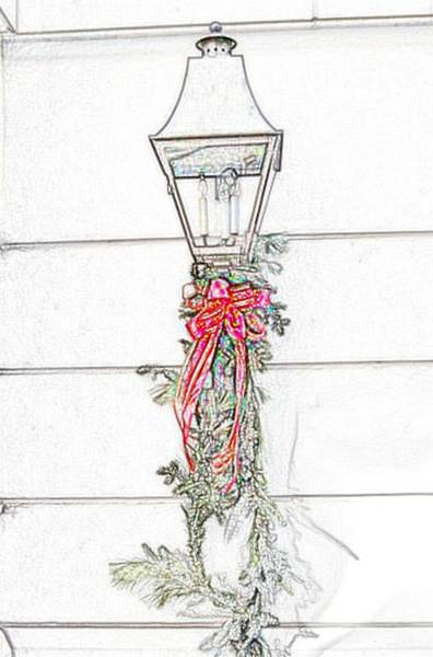 Photograph - Christmas Lantern by Donna Bentley