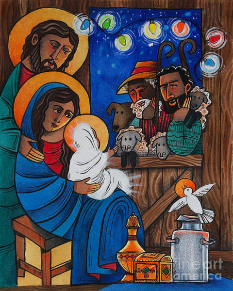 Painting - Christmas Light - Mmcml by Br Mickey McGrath OSFS