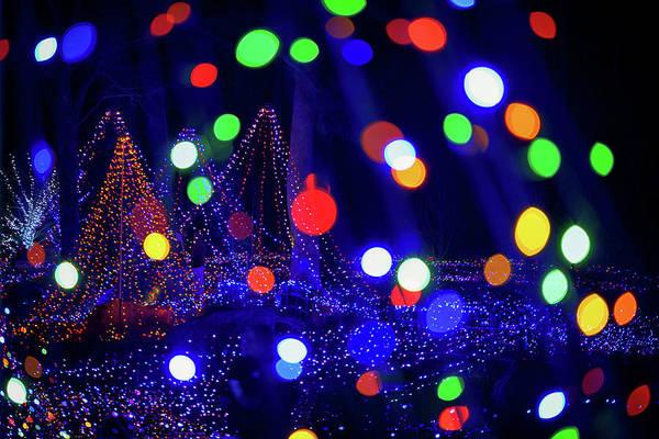 Photograph - Christmas Lights Abstract IIi by Rick Berk