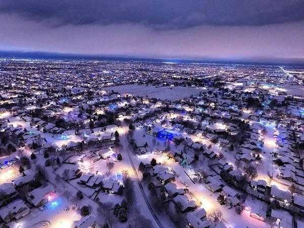 Chapa Photograph - Christmas Lights by Andrew Chapa