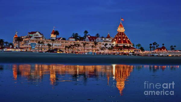 Photograph - Christmas Lights At The Hotel Del Coronado by Sam Antonio Photography