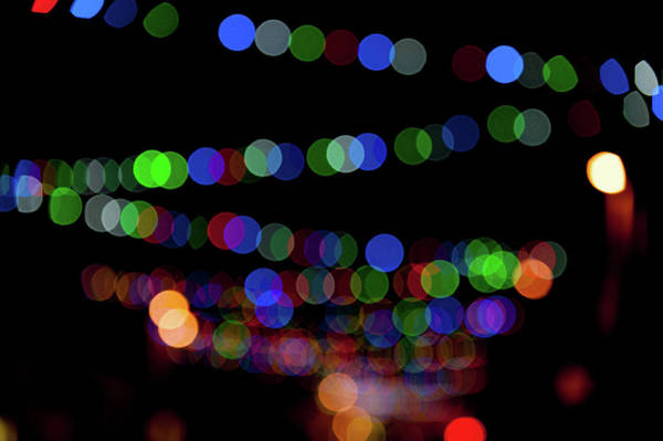 Photograph - Christmas Lights Bokeh Blur IIi by Helen Northcott