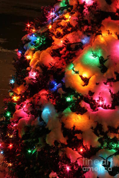 Coldplay Photograph - Christmas Lights Coldplay by Wayne Moran