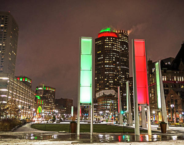 Photograph - Christmas Lights In Boston Ma 2017 by Toby McGuire
