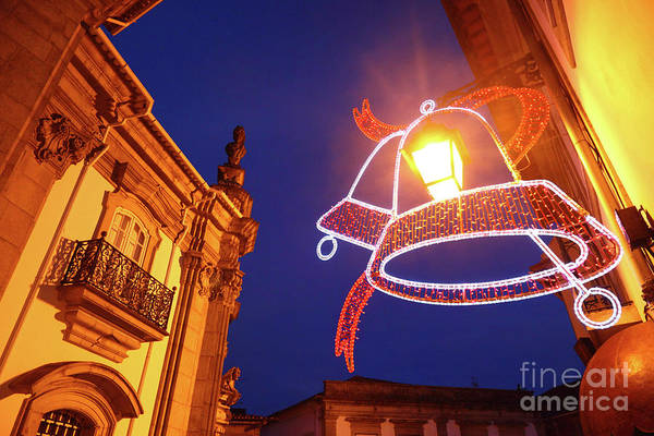 Photograph - Christmas Lights In Viana Do Castelo Portugal by James Brunker