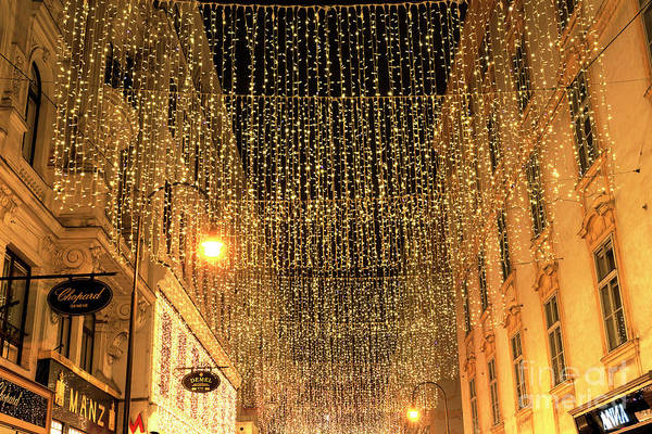 Photograph - Christmas Lights Vienna by John Rizzuto