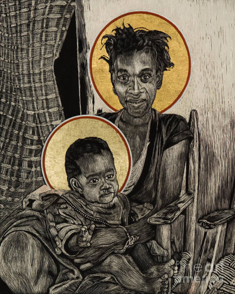 Painting - Christmas Madonna - Haiti - Lwcmh by Lewis Williams OFS