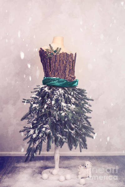 Mannequins Photograph - Christmas Mannequin Dressed In Fir Branches by Amanda Elwell