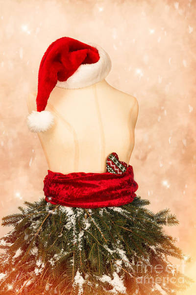 Mannequins Photograph - Christmas Mannequin With Santa Hat by Amanda Elwell