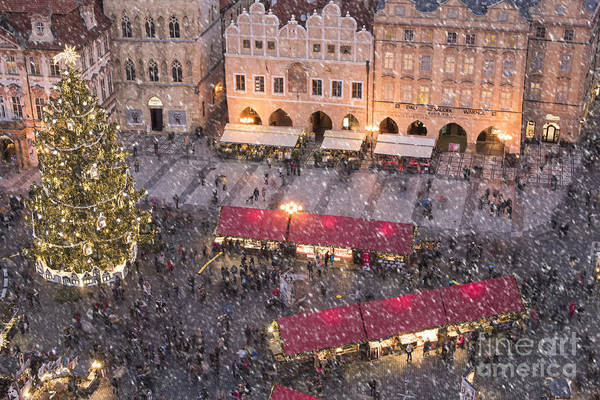 Baroque Photograph - Christmas Market In Prague by Juli Scalzi
