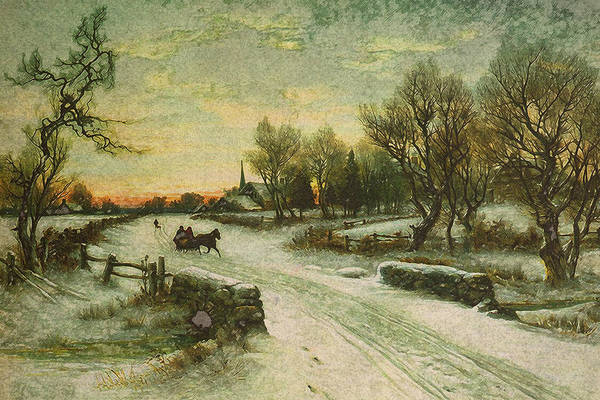 Wall Art - Mixed Media - Christmas Morn by Design Turnpike