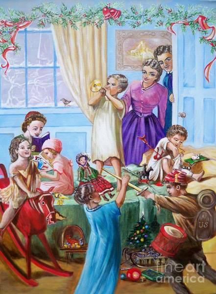 Painting - American History  We Say Merry  Christmas  Because It Is Christmas  by Sigrid Tune