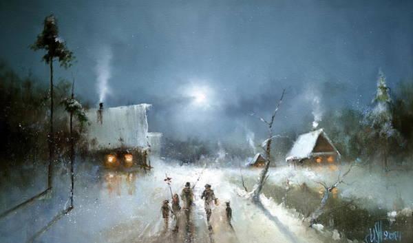 Painting - Christmas Night by Igor Medvedev
