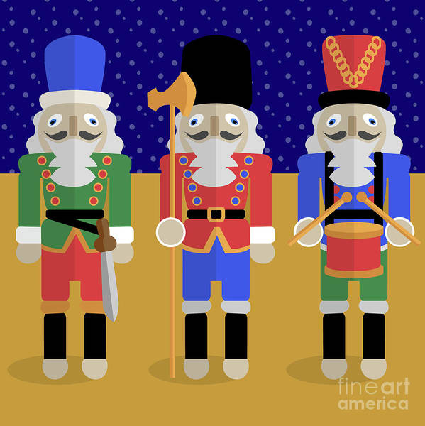 Christmas Nutcrackers  Art Print