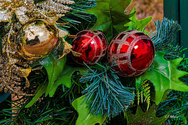 Photograph - Christmas Ornaments by Christopher Holmes