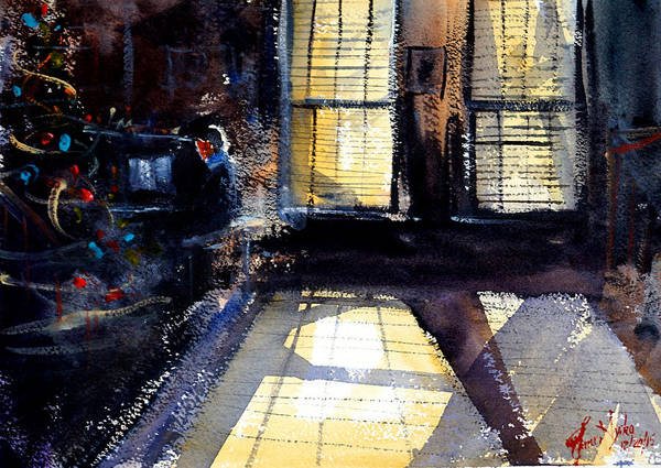 Pianist Painting - Christmas Pianist by James Nyika
