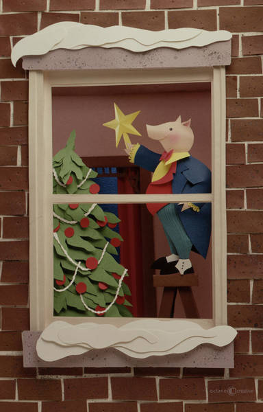 Sculpture - Christmas Pig by Tim Nyberg